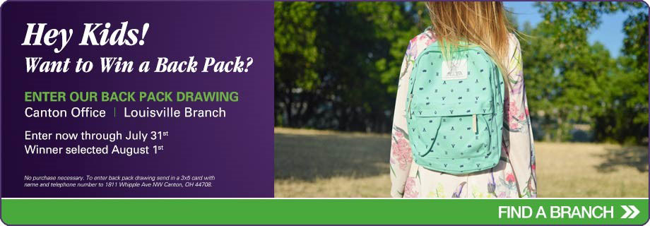 Win a back pack. Contact us for details.