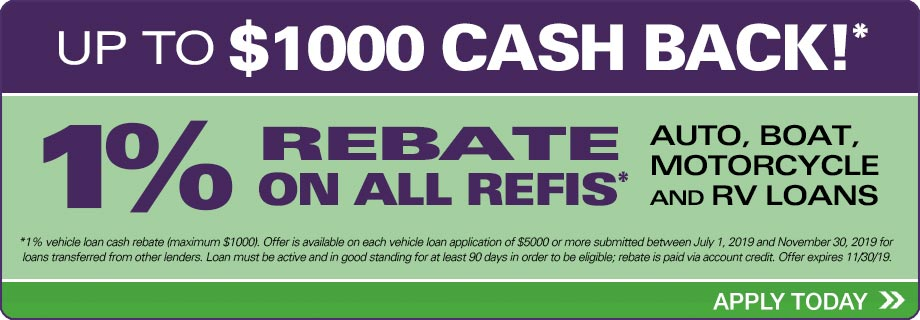 1% Rebate on all Refis